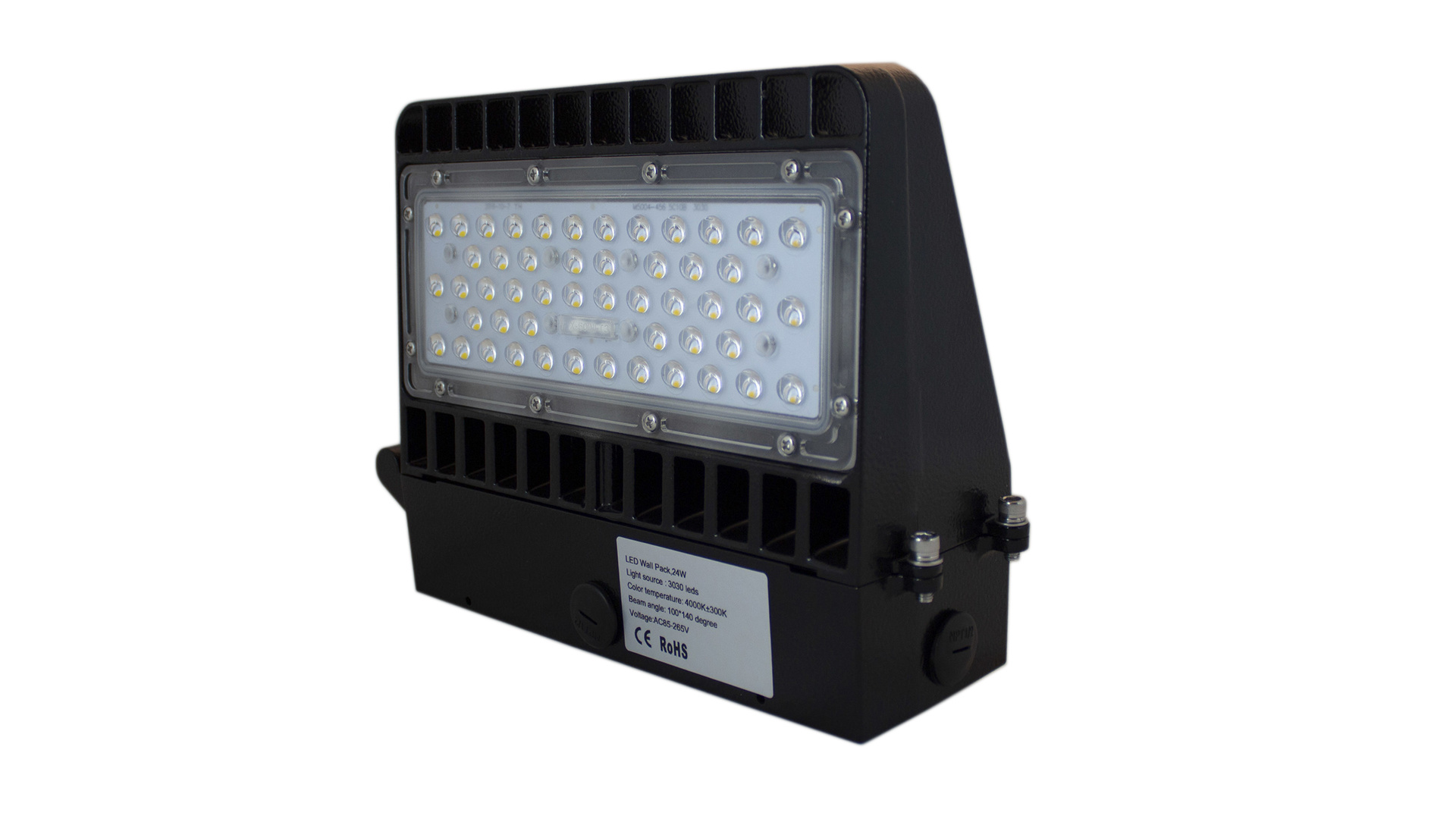 LED Wall Floodlight 24W, IP65, 4000K, Dag/Nacht sensor