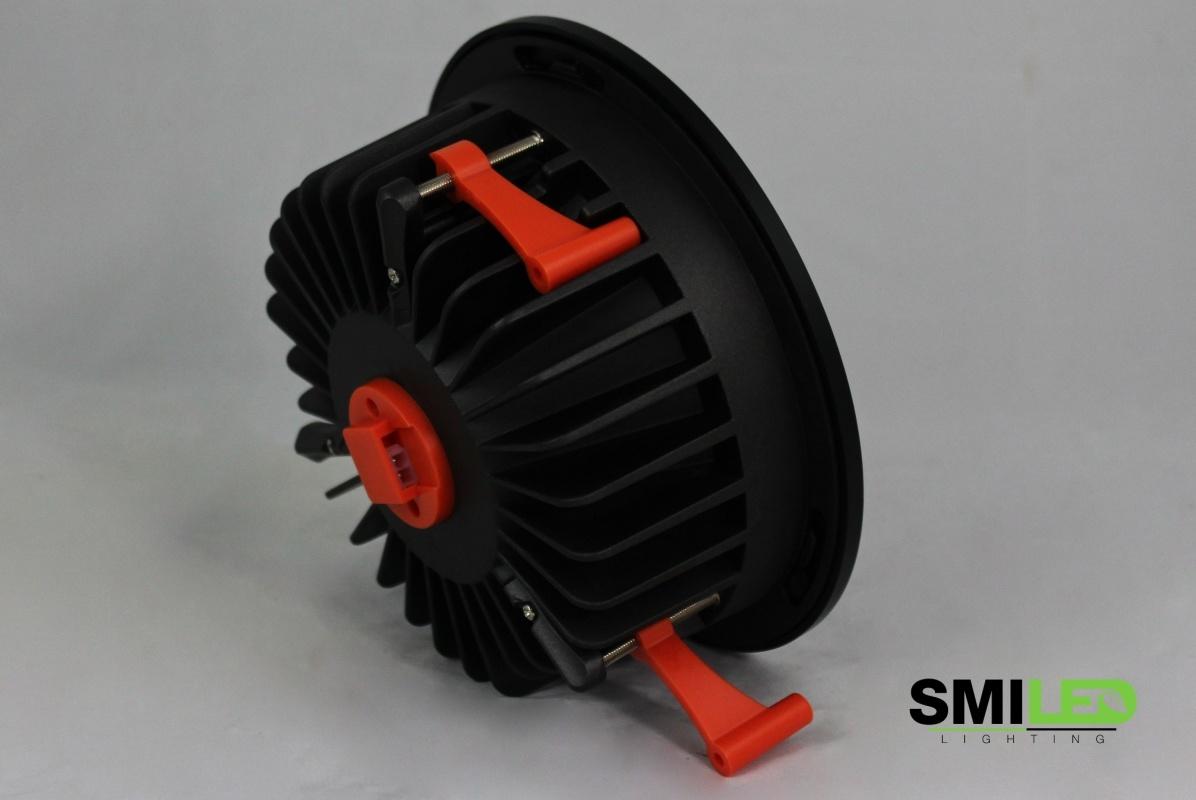 Downlighter LED 15W, 3000K, TUV, Zwarte Rand