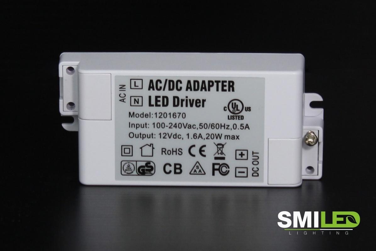 LED Transformator 20W, 100-220V to 12V