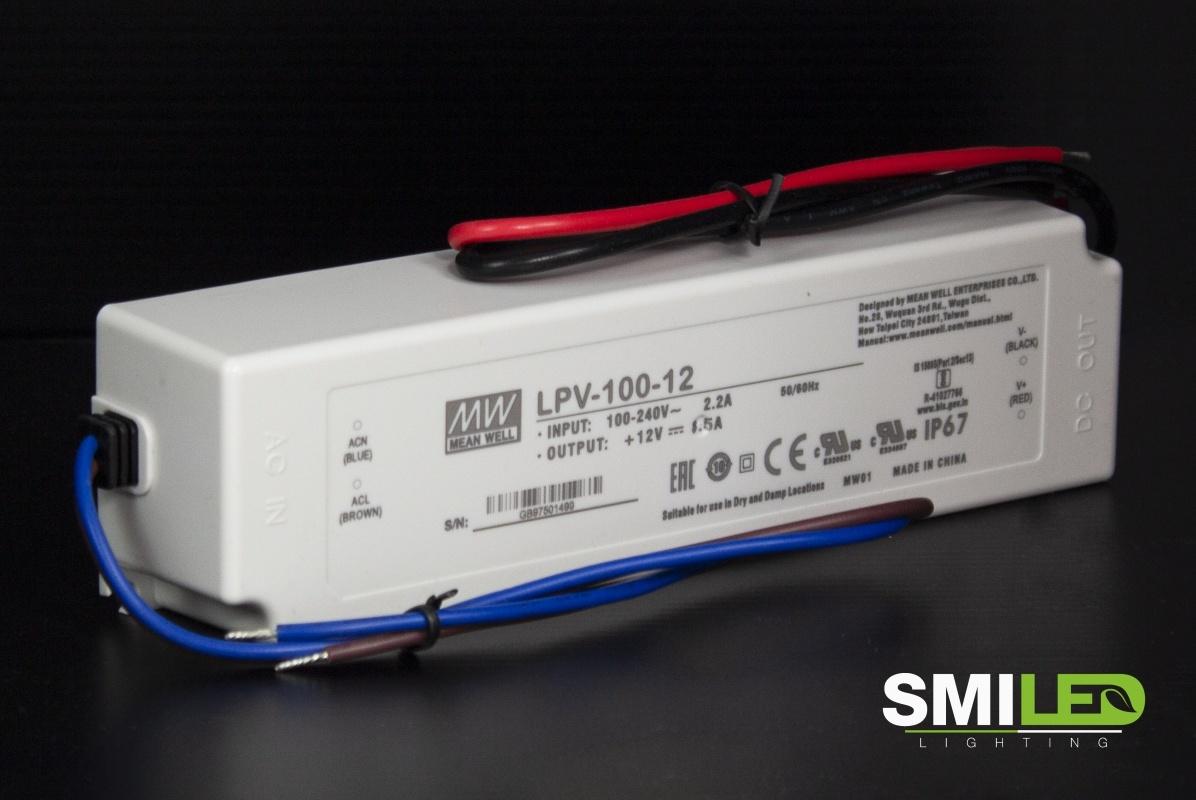 LED Transformator Meanwell, 100-240V to 12V