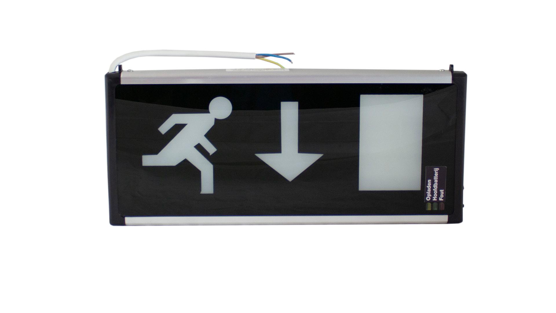 Nooduitgang LED Verlichting Rechtdoor, 3W, 90min EL