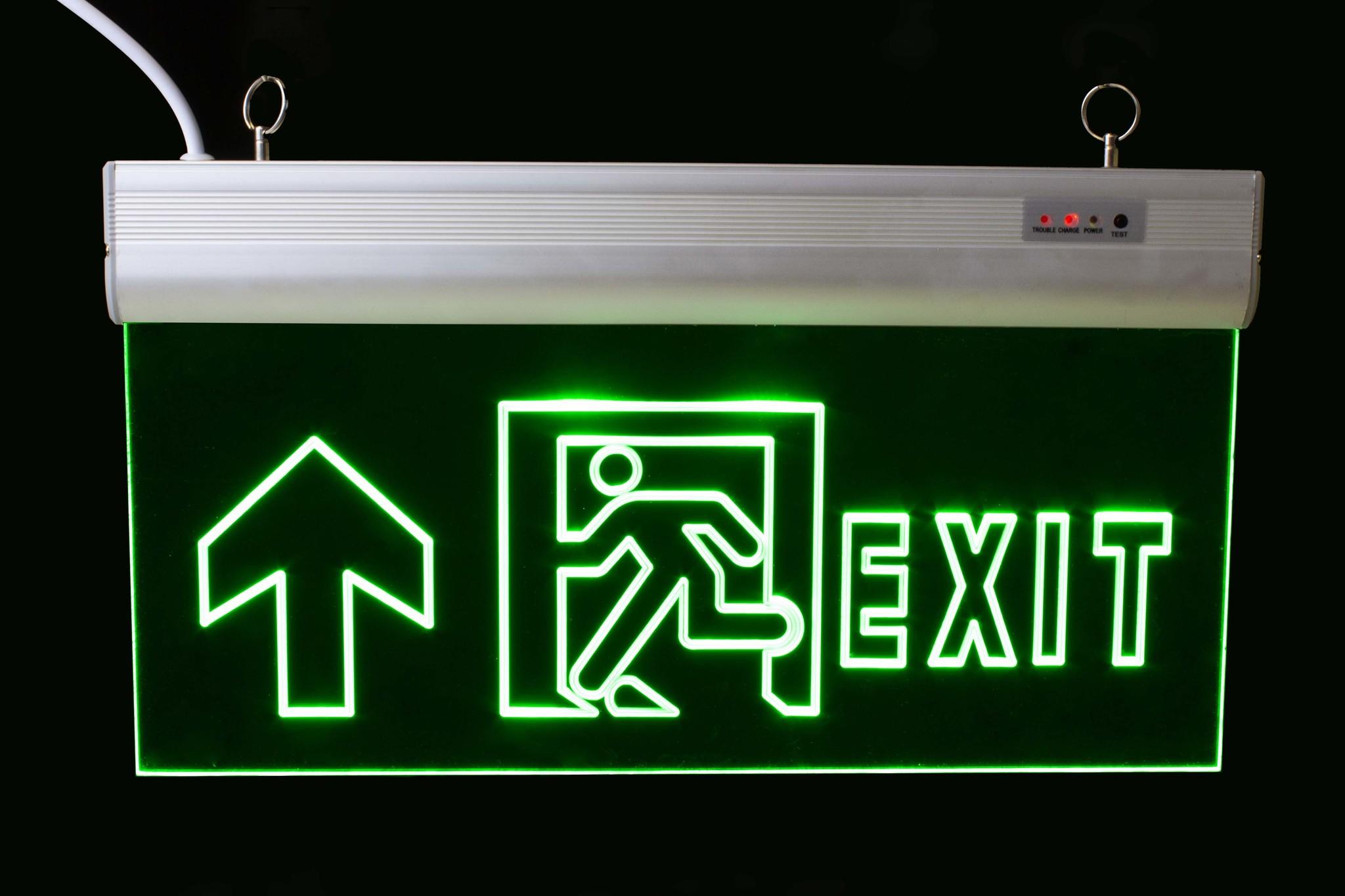 Nooduitgang LED Verlichting Rechtdoor Up, 3W, 90min EL