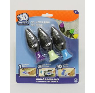 3D Magic Refill - 3 Stuks pastel
