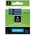 Overige merken DYMO S0720710 labelprinter-tape 9mm x 7m zwart op blauw