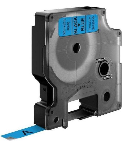 DYMO S0720710 labelprinter-tape 9mm x 7m zwart op blauw
