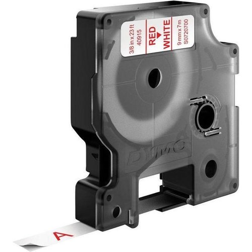 DYMO S0720700 labelprinter-tape 9mm x 7m rood op wit
