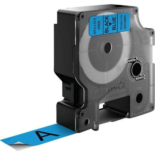 DYMO S0720860 labelprinter-tape 19mm x 7m zwart op blauw