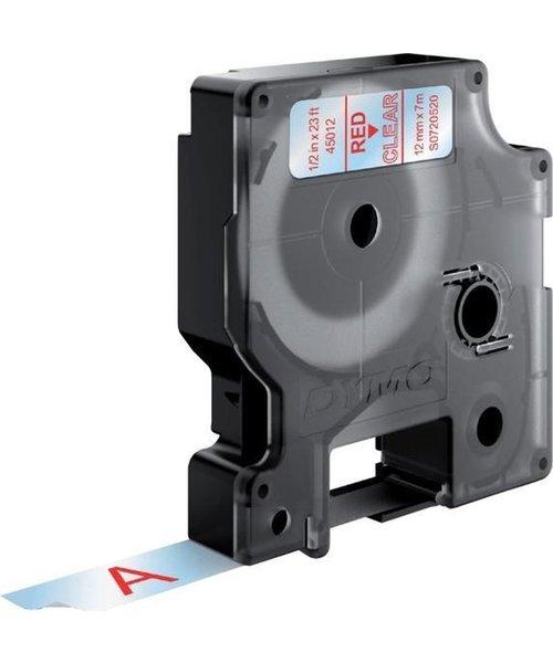 Overige merken DYMO S0720520 labelprinter-tape 12mm x 7m rood op transparant