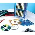 Overige merken DYMO S0720870 labelprinter-tape 19mm x 7m zwart op rood
