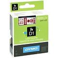 DYMO S0720850 labelprinter-tape 19mm x 7m rood op wit