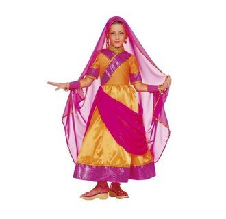 Cosplay Creation Bollywood set jurk, sluier en polsbanden maat 110