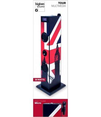 Bigben Interactive TW5 - Union Jack 20W Blauw, Rood, Wit luidspreker