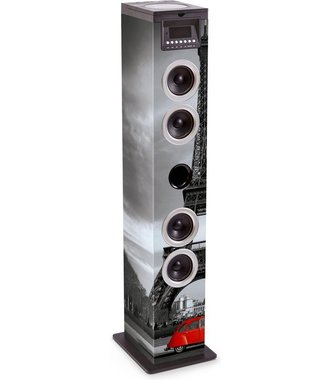 Bigben Multimedia Speaker Toren - CD/Bluetooth/Radio/USB/SD - Eiffeltoren/Parijs