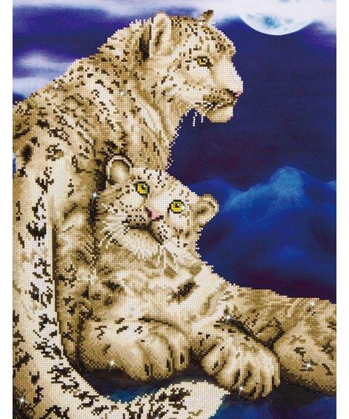 Diamond Painting Diamond Dotz ® painting Snow Leopards (52x77 cm)