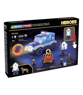 Laser Pegs Heroes K9 Unit - bouwset