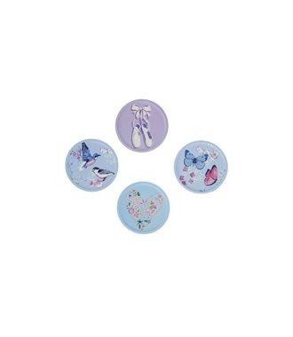 Sammies by Samsonite - Interchangeable badges voor Samsonite Ergonomic backpack - Set van 4 badges - Bellflower