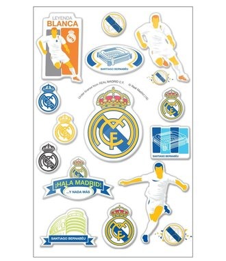 Real Madrid puffy 3D stickers- graphic - 16 stickers
