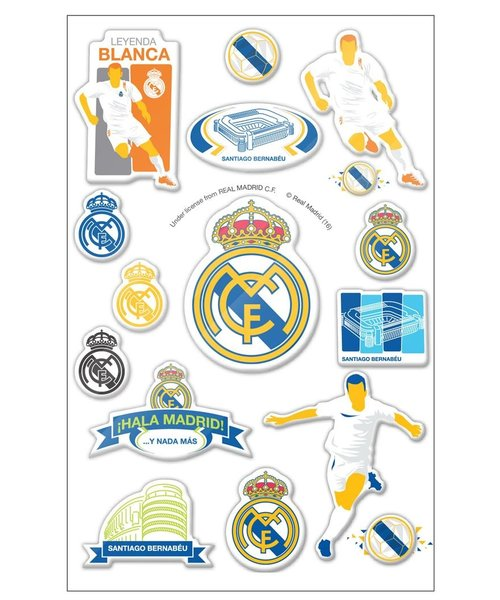 Real Madrid Real Madrid puffy 3D stickers- graphic - 16 stickers