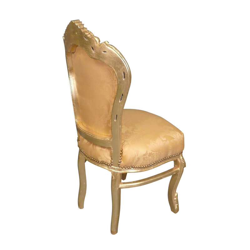 LC Baroque dining room chair gold flower