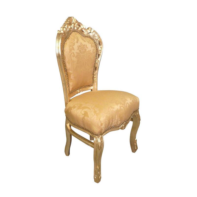 LC Barok eetkamerstoel goud bloem