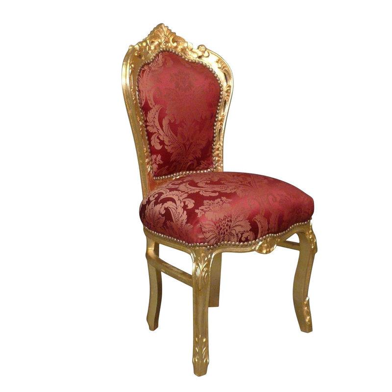 Barok eetkamerstoel goud rood
