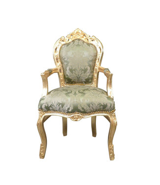 LC Baroque armchair gold green