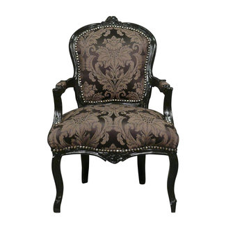LC Baroque ladies chair black