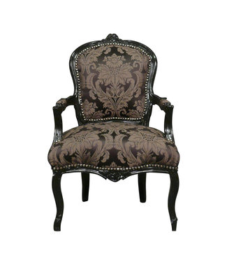 LC Chaise baroque dames noir