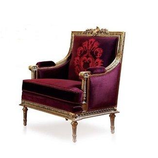 Wafaa Okka  Barok fauteuil La Soie