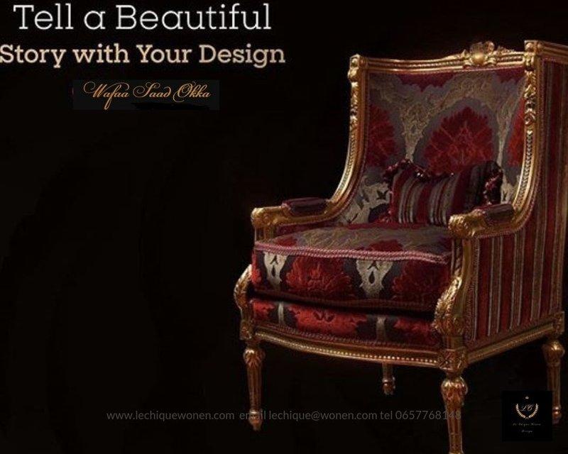 Wafaa Okka  Baroque armchair La Soie Classic