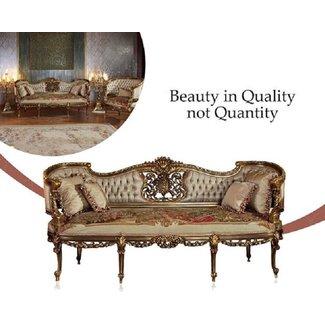 Wafaa Okka  Salon: Sofa and two chairs