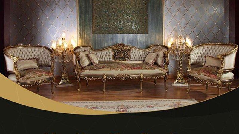 Wafaa Okka  Sofa and two chairs Le Antoinette