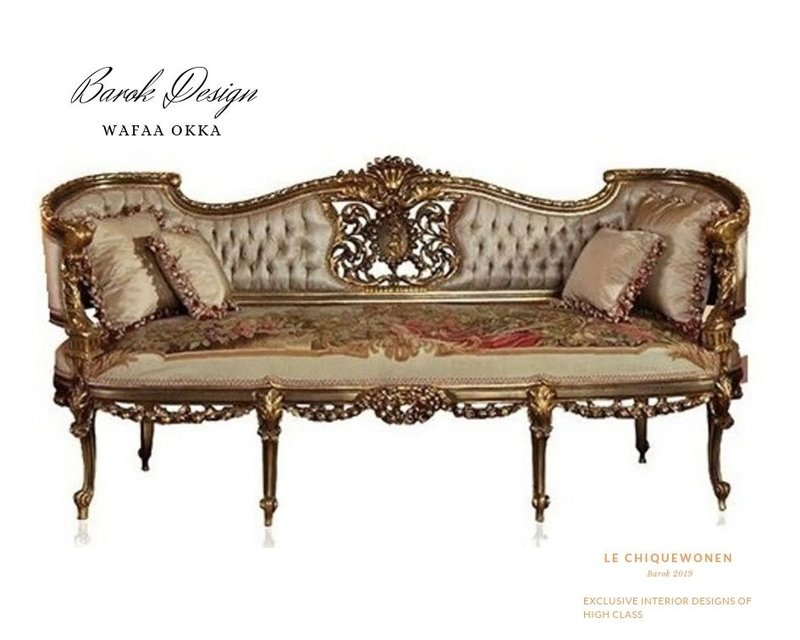 Wafaa Okka   Sofa en twee stoelen Le Antoinette