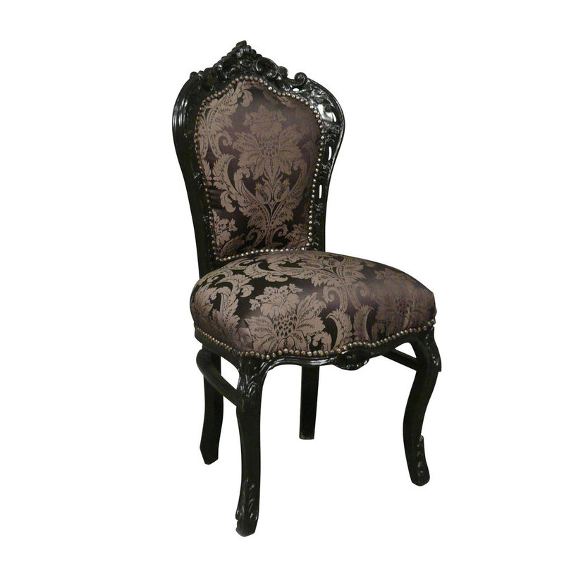 LC Baroque dining room chair black