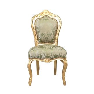 LC Dining room chair gold green