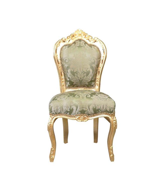 LC De salle à manger baroque vert doré