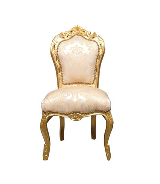 LC Dining room chair gold flower