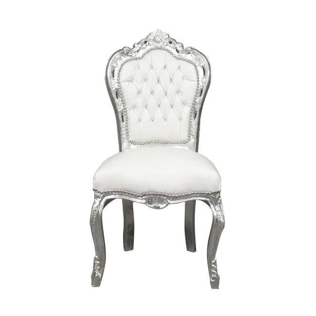 LC Chaise de salle à manger silver white sky