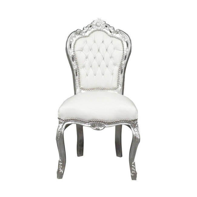 LC Dining room chair silver white sky