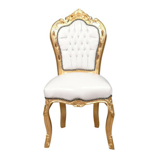 LC Dining room chair gold white sky
