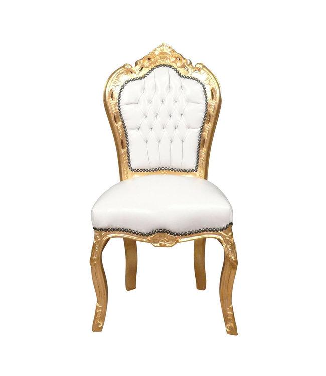 LC Chaise de salle à manger or ciel blanc