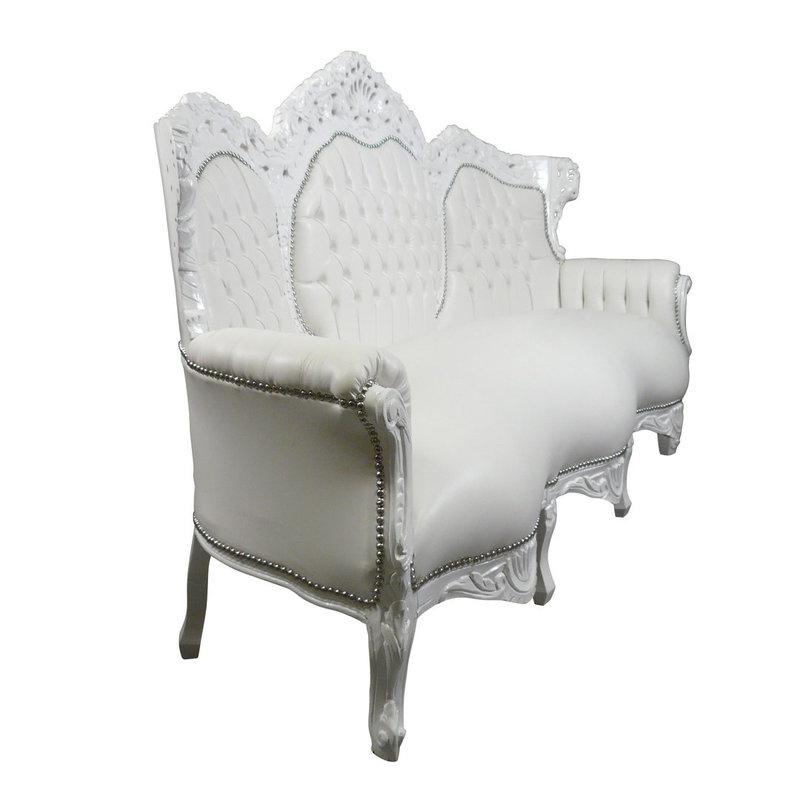 LC Baroque couch romantica white white sky