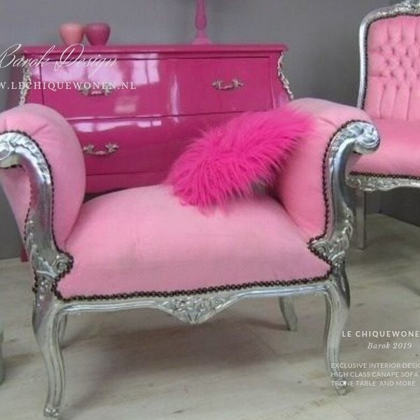 LC Bench cleo silver pink