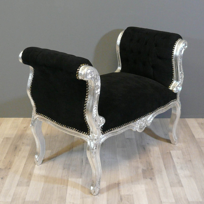 LC Baroque bench cleo silver black
