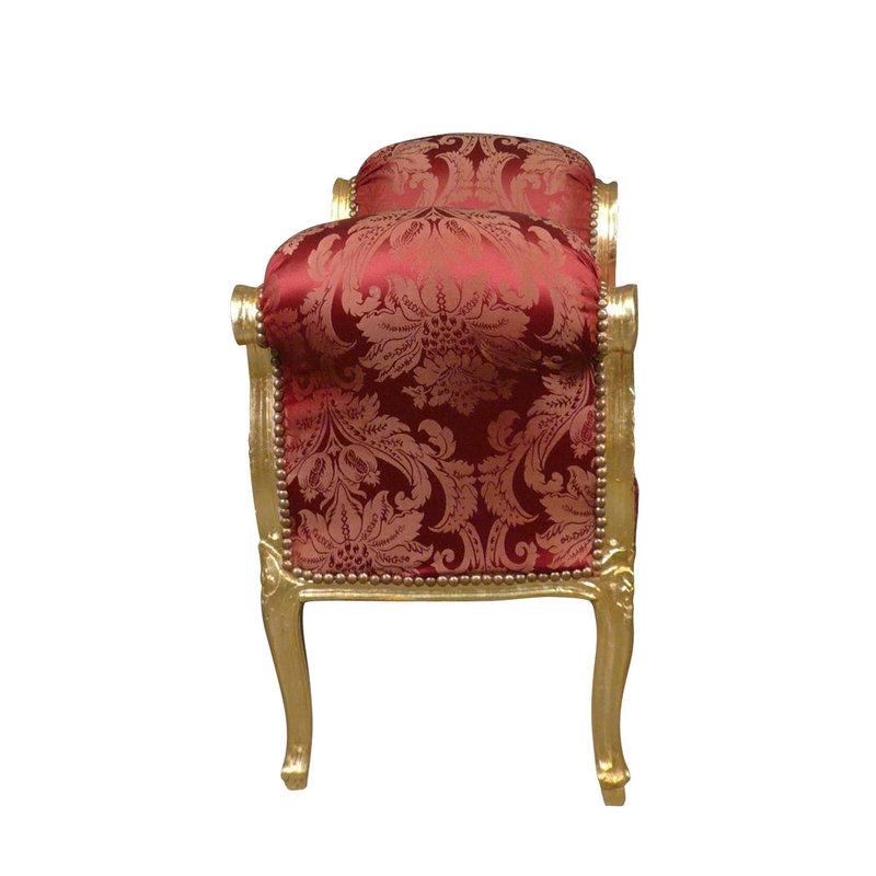 Royal Decoration   Bankje Cleo goud rood