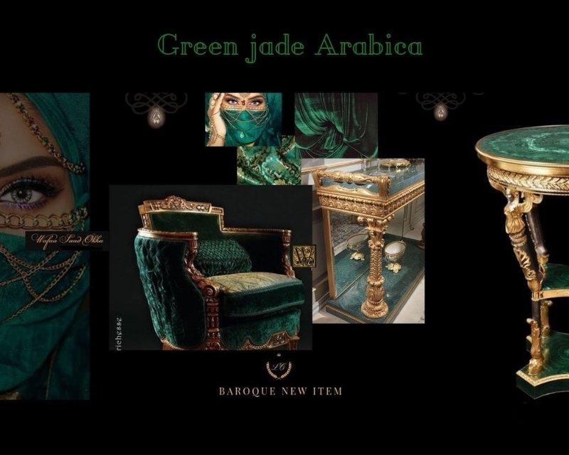Wafaa Okka  Fauteuil Arabica green jade