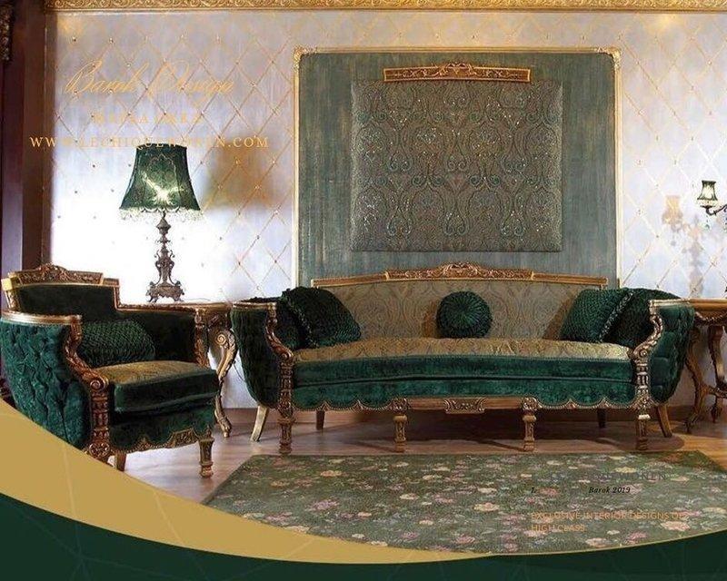 Wafaa Okka  Baroque set of Arabica green jade