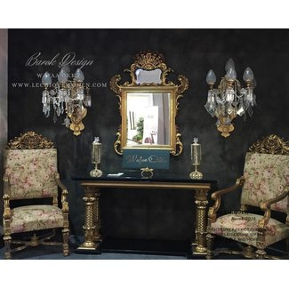 Wafaa Okka  Console baroque et miroir Arabica