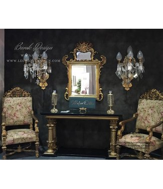 Wafaa Okka  Baroque console and mirror Arabica