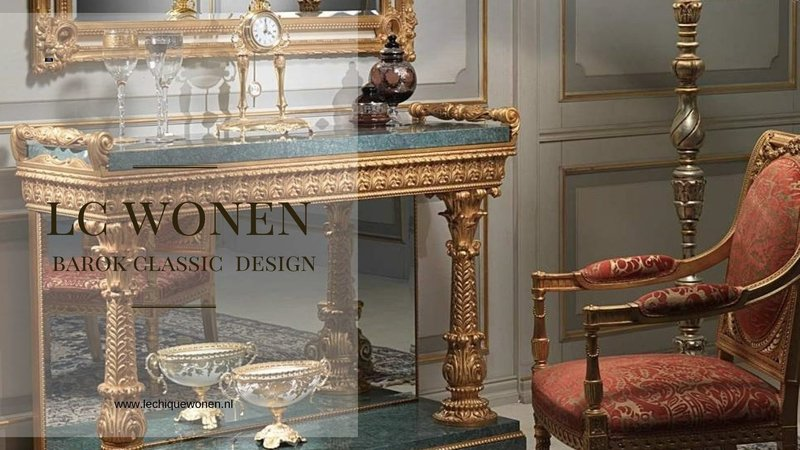 Wafaa Okka  Baroque console and mirror Arabica